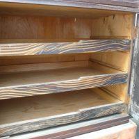 黒檀の箪笥の修理お盆内部
