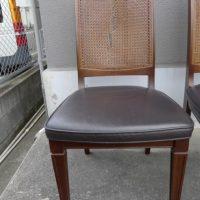 籐の椅子の修理