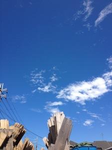 残暑きびしい空