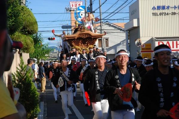 2012 だんじり祭り 春木旭 曳きだし