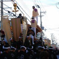 2012 だんじり祭り 春木旭 曳きだし2