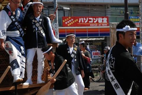 岸和田だんじり祭り試験引き