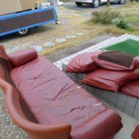 以前のソファー引き取り廃棄処分