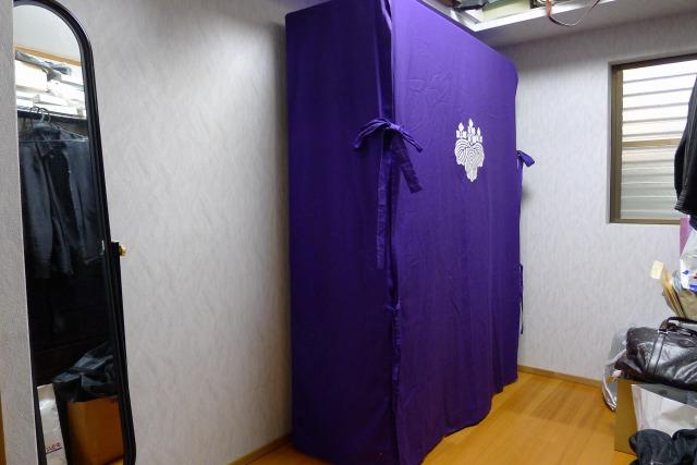 紫の桐の油単