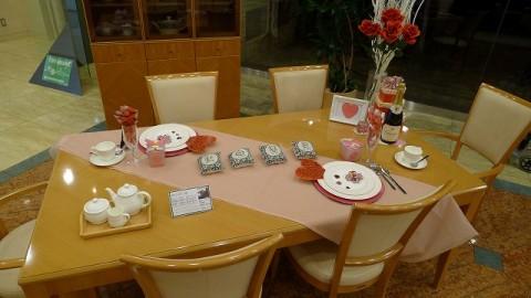 バレンタインの飾りつけ