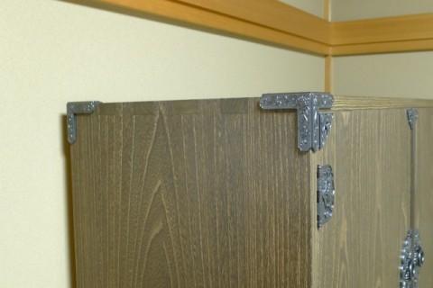 総桐焼桐時代衣装箪笥 天板の蟻組手写真