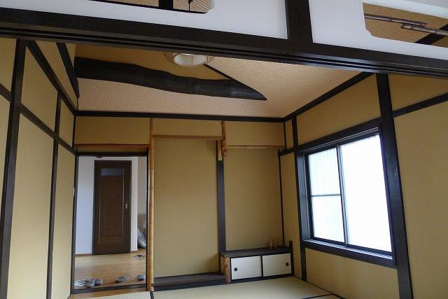 こだわりの天井お梁と桐板