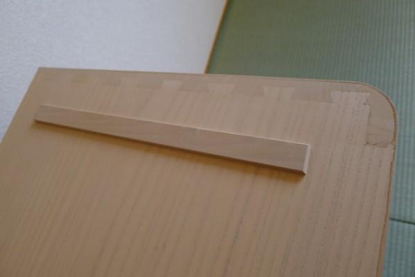 桐箪笥の下台の重ねる部分に施された手組蟻組手