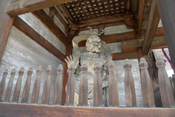 世界遺産 仁和寺の仁王門の仁王像