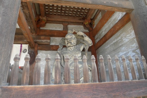 世界遺産 仁和寺の仁王門の仁王像 2