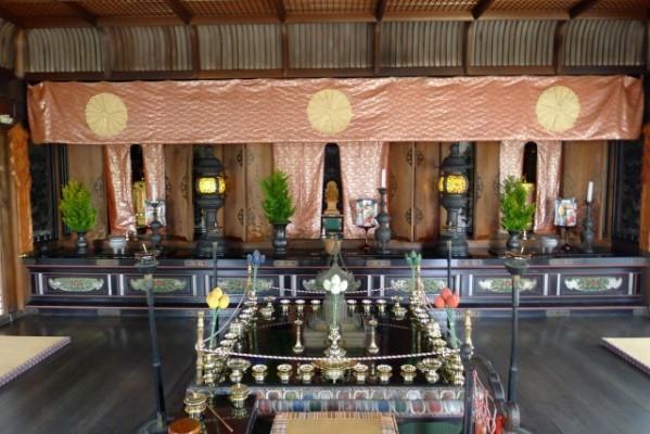 仁和寺 国宝霊明殿の内部