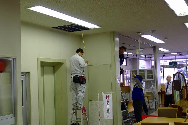 NTT光電話の工事の模様