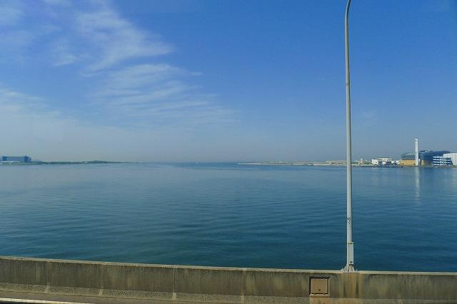 阪神高速 湾岸線の中島パーキングエリアからの風景