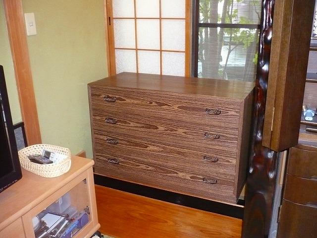 大阪泉州桐箪笥の焼桐4段衣装箪笥 2