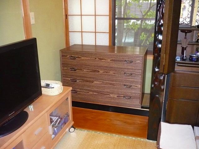 大阪泉州桐箪笥の焼桐4段衣装箪笥 3