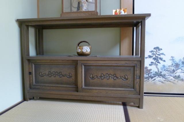 最高級の神戸家具の座敷飾り棚