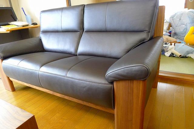 カリモクZU4862R353の2人掛けソファー