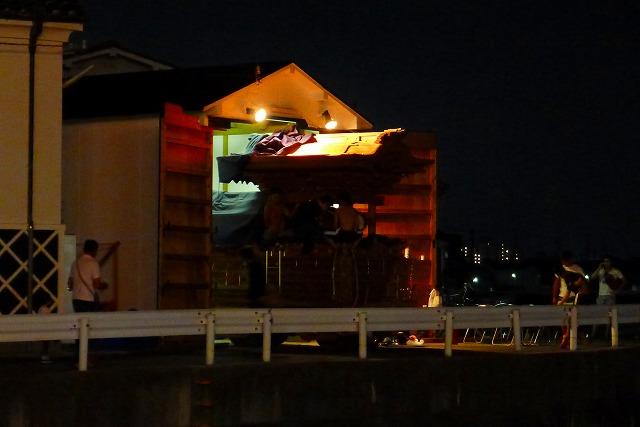 岸和田だんじり祭りのお囃子(鳴り物)の練習風景