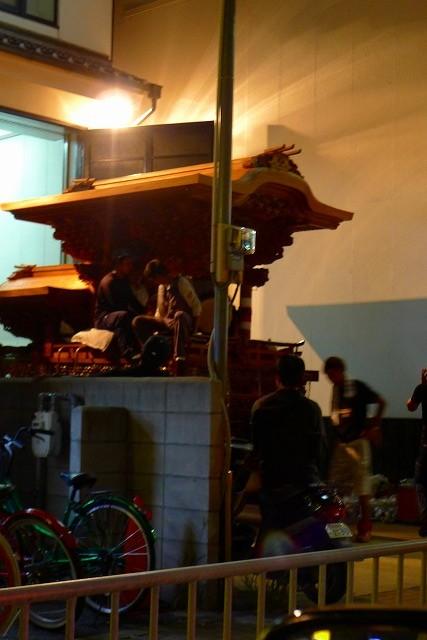 岸和田だんじり祭りのお囃子(鳴り物)の練習風景2