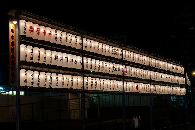 岸和田市内のご献灯台