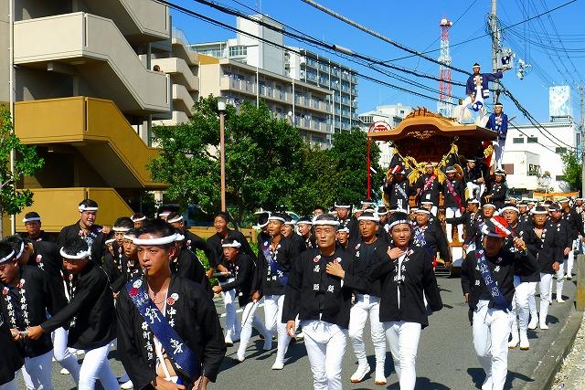 2013 10月 岸和田だんじり祭り 試験引き