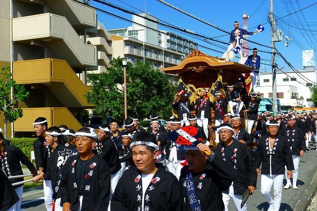 2013 10月 岸和田だんじり祭り 試験引き 中井町