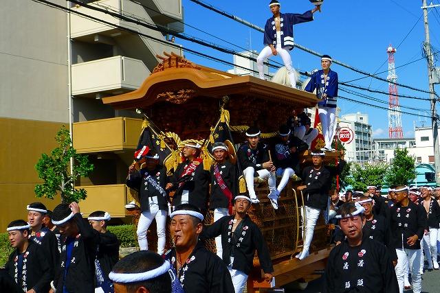2013 10月 岸和田だんじり祭り 試験引き 中井町の写真