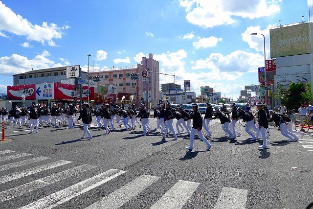 2013 10月 岸和田だんじり祭り 試験引き荒木北交差点横断