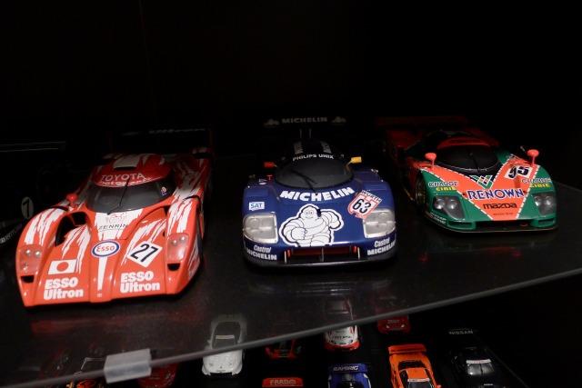 お客様のレーシングプラモデルのコレクション