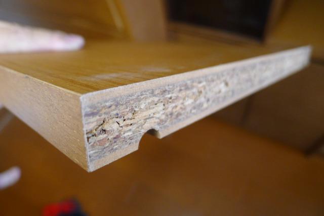 カリモクのHU2405MHとHU2900MHの本箱の棚板