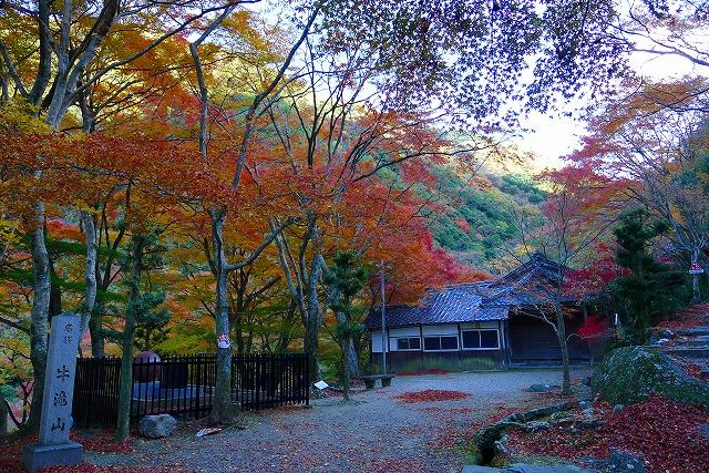 大威徳寺の境内の紅葉