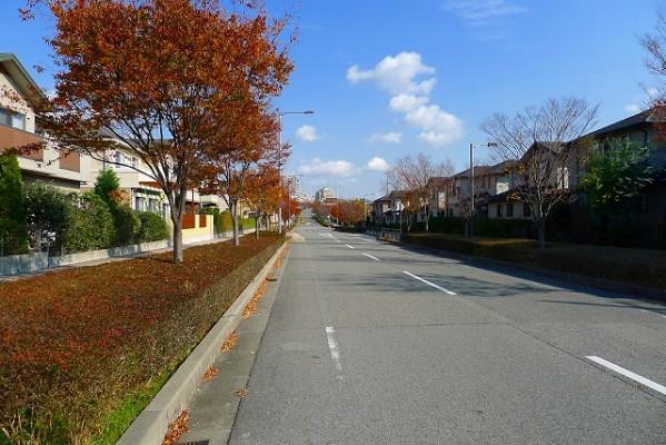 神戸の閑静な住宅街の町並み