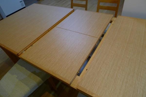 カリモクダイニングテーブルDT7473MSを伸ばす 2
