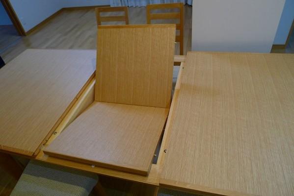 カリモクダイニングテーブルDT7473MSを伸ばす