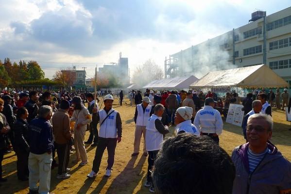 岸和田市の避難訓練の模様 5