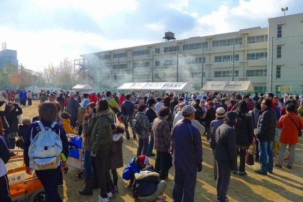 岸和田市の避難訓練の模様 6