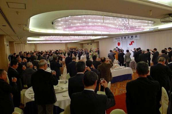 岸和田商工会議所の2014年 年賀交換会の乾杯