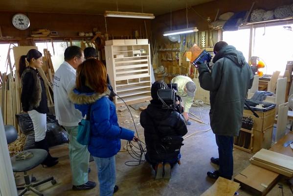 EO光TV 「情報navi 旬なKANSAI」の工房 取材風景