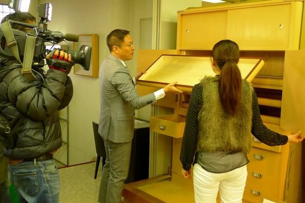 EO光TV 「情報navi 旬なKANSAI」の取材風景