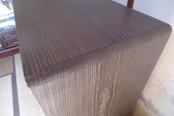 大阪泉州桐箪笥焼桐天丸型五段引出しタンスの伝統の接合技術の蟻組手