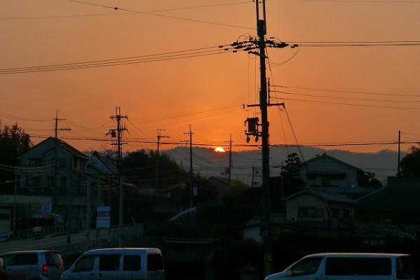 奈良県D様からの帰りの夕陽