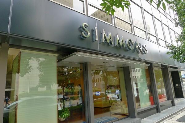 シモンズベッドの大阪ギャラリー