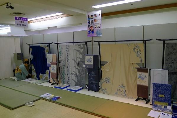 京友禅の田畑喜八様の展示スペース