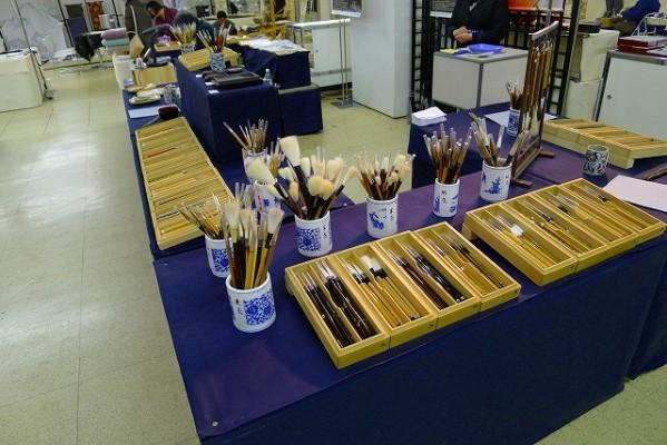 奈良筆様の展示スペース