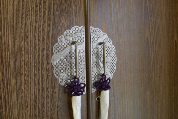 総桐焼桐盆六衣装箪笥の上品な前飾り