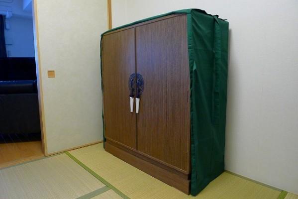大阪泉州桐たんす焼桐柾目小袖衣装たんすと油単 2