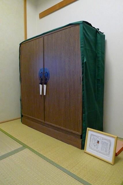 大阪泉州桐たんす焼桐柾目小袖衣装たんすと油単と桐箪笥の保障書