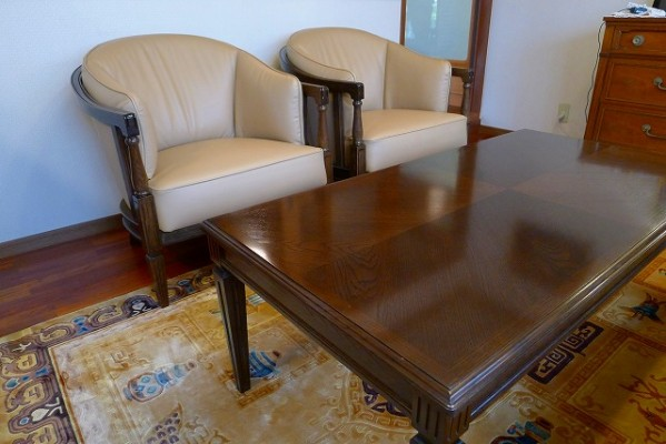 カリモク家具 最上級ブランド ドマニのQUEENS LIFE(クィーンズ ライフ)WPQ610X331とセンターテーブルTPQ400MD