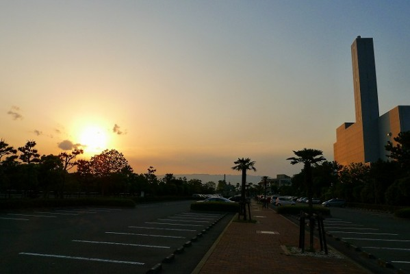 鳴尾浜夕日