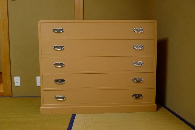 奈良市のM様に大阪泉州桐箪笥 天丸5段引出し箪笥をお届けしました。